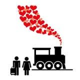 honeymoon illustration stock