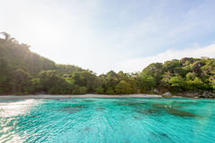 Honeymoon Bay and beach in Similan island, Thailand Stock Images