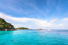 Honeymoon Bay in Mu Koh Similan, Thailand Stock Images