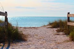 Honeymoon beach state park, waterview. Honeymoon beach state park, water-view, pathway Stock Photos