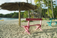 Honeymoon Beach, Water Island, U.S. Virgin Islands. Beautiful beach on Caribbean island Royalty Free Stock Photo