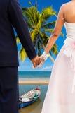 Honeymoon at beauty beach Royalty Free Stock Image