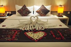 Bed decoration Stock Images