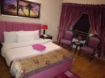 Honeymoon Bed Room. In pakistani Hotels Stock Images