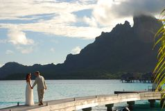 Honeymoon. Bora Bora, French Polynesia Royalty Free Stock Image