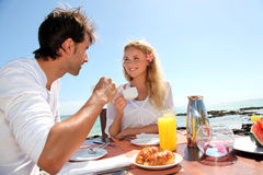 Honeymoon breakfast Stock Image