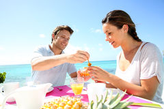 Honeymoon breakfast Stock Photo
