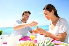 Honeymoon breakfast Stock Photo