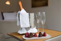 Honeymoon concept. Hotel room shot - Honeymoon concept Royalty Free Stock Image