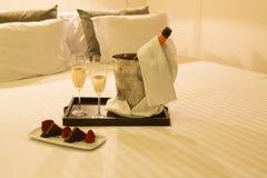 Honeymoon concept. Hotel room shot - Honeymoon concept Stock Photography