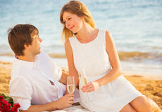 Honeymoon concept, Man and Woman in love Royalty Free Stock Photos