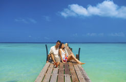 Honeymoon couple Royalty Free Stock Image