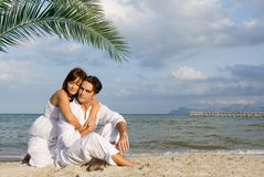 Honeymoon couple Stock Photos