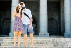 Honeymoon couple on holiday Royalty Free Stock Photos