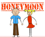 Honeymoon Couple Indicates Holidays Romance And Friendship Royalty Free Stock Photos