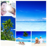 Honeymoon Couple Romantic Summer Beach Concept Stock Image