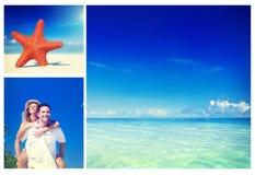 Honeymoon Couple Romantic Summer Beach Concept Royalty Free Stock Photo
