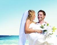 Honeymoon Couple Romantic Summer Beach Concept Royalty Free Stock Image
