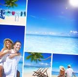 Honeymoon Couple Romantic Summer Beach Concept.  Royalty Free Stock Image