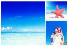 Honeymoon Couple Romantic Summer Beach Concept.  Stock Image