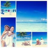 Honeymoon Couple Romantic Summer Beach Concept.  Stock Photos