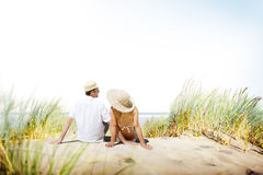 Honeymoon Couple Summer Beach Dating Concept Stock Photography