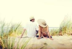 Honeymoon Couple Summer Beach Dating Concept Royalty Free Stock Photos