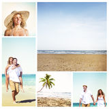 Honeymoon Couple Summer Beach Dating Concept.  Royalty Free Stock Photo