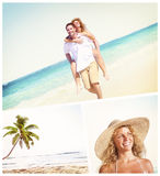Honeymoon Couple Summer Beach Dating Concept Royalty Free Stock Photography