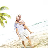 Honeymoon Couple Summer Beach Dating Concept Royalty Free Stock Photo