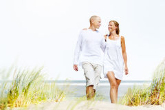 Honeymoon Couple Summer Beach Dating Concept.  Royalty Free Stock Image