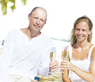 Honeymoon Couple Summer Beach Dating Concept Royalty Free Stock Images