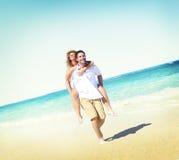 Honeymoon Couple Summer Beach Dating Concept.  Royalty Free Stock Photo