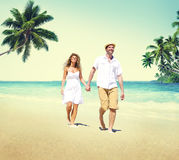 Honeymoon Couple Summer Beach Dating Concept.  Royalty Free Stock Photos