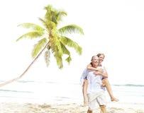 Honeymoon Couple Summer Beach Dating Concept.  Royalty Free Stock Image