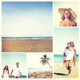 Honeymoon Couple Summer Beach Dating Concept Stock Photography