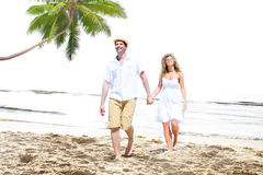 Honeymoon Couple Summer Beach Dating Concept.  Stock Photography