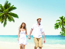 Honeymoon Couple Summer Beach Dating Concept.  Royalty Free Stock Photography