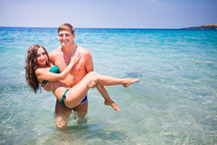 Honeymoon couple Stock Images