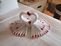 Honeymoon decoration stock image