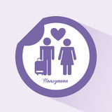 Honeymoon. Design, vector illustration eps10 graphic Stock Photography