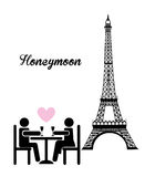 Honeymoon royalty free illustration