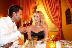 Honeymoon dinner Royalty Free Stock Image