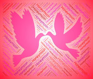 Honeymoon Doves Shows Love Birds. Honeymoon Doves Representing Love Birds stock illustration