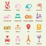 Honeymoon elements stock illustration