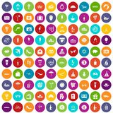 100 honeymoon icons set color. 100 honeymoon icons set in different colors circle isolated vector illustration vector illustration