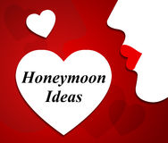 Honeymoon Ideas Represents Trip Vacations And Destinations. Honeymoon Ideas Showing Destinations Holidays And Choices royalty free illustration