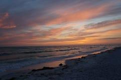 Honeymoon Island State Park, Florida. Beautiful sunset at Honeymoon Island State Park, Florida stock photo