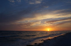 Honeymoon Island State Park, Florida. Beautiful sunset at Honeymoon Island State Park, Florida stock images
