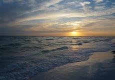 Honeymoon Island State Park, Florida. Beautiful sunset at Honeymoon Island State Park, Florida stock photos